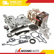 Heavy Duty Timing Chain Kit Cover Gmb Water Pump Fit 85-95 Toyota 2.4l 22r