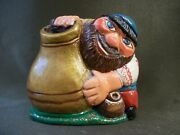 Wooden Toy, Souvenir. Potter, The Wizard, Man And Pots, Pitchers