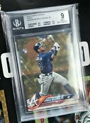 2018 Topps Update Gold Us250 Ronald Acuna Rc Rookie /2018 Bgs 9 Atlanta Braves