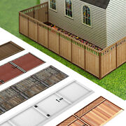 1/64 Scale Photo Real Fence Kits Fits Diecast Afx Scalextric Aurora Dioramas