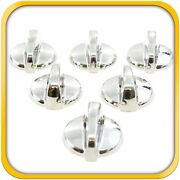 6 Range Top Surface Knobs Burner Fits General Electric Hotpoint Rca Wb03t10284