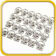 24 Steel Stainless 6mm Square Eye Plates W Ring 1/4 Marine 316 Ss Boat Rigging
