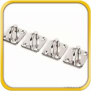 4 Stainless Steel 316 6mm Square Eye Plates 1/4 Marine Ss Pad Boat Rigging New