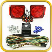 Submersible Led Square Light Kit Trailer 80- And 4 Red 4 Amber Side Marker Boat