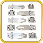5 Door Clasp Padlock Hasps Latch 304 Steel Stainless For Sheds Gates And More 3