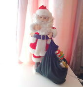 Vtg Telco Animation Motionettes Santa Hands Lifted Bag W Wish Gifts Kids Rare