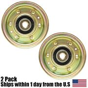 2 Flat Idler Pulley For Mtd 756-0981a 756-04224 756-0981 112-3687 300920
