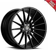 4ea 22 Staggered Savini Wheels Bm16 Gloss Black Super Concave Rims S13