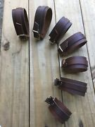 Wholesale Handcrafted Genuine Brown Leather Cuff Bracelets 10pck Various Lengths