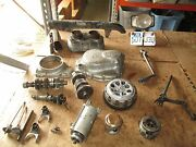 1973 Honda Cl360 Stator Cover Clutch Cover Cylinder Barrel Chain Guard Parts Lot