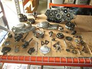 1980 Yamaha Tt250 Engine Cases Clutch And Magneto Cover Cylinder Etc Parts Lot