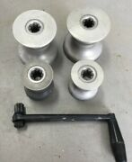 Gibbs Sailing Winch Set Of 4 W/handle 3 And 4 1/4 Made In England