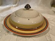 Ridgway England Antique Rare Dome Lidded Cheese/butter Plate Circa Late 1800andrsquos