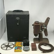 Revere Model 85 8mm Vintage Projector In Case With Reel Cord And Maintenance Kit