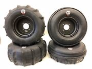 Dwt 14 Black Uls Front Rear Rims 30 Xl Gmz Sand Stripper Paddles Tires Can-am