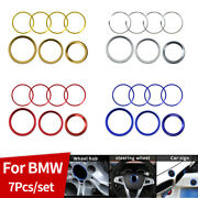 7pcs Front Hood Trunk 82mm 74mm 45mm 68mm For Bmw Badge Emblem Wheel Cover Rings
