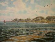Sand Spots Herb Booth Anglers Casting To Redfish In The Shallows Texas Coast