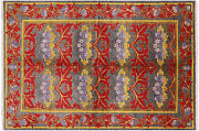 6and039 0 X 8and039 8 Hand-knotted William Morris Wool Rug - P4974