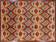 8and039 10 X 12and039 0 Ikat Hand Knotted Area Rug - P5507