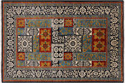 6' 1 X 9' 3 William Morris Hand Knotted Rug - P7068