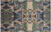 5and039 10 X 9and039 4 William Morris Hand Knotted Wool Rug - P7742