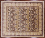 7and039 10 X 9and039 7 Handmade William Morris Wool Area Rug - Q1639