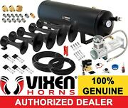 Train Horn Kit For Truck/car/pickup Loud System /3g Air Tank /200psi /5 Trumpets