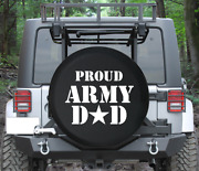Spare Tire Cover Proud Army Dad Military Star Auto Accessories