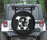 Spare Tire Cover Pitbull Terrier Staffy Dog Paw Prints Auto Accessories