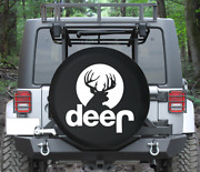 Spare Tire Cover Hunting Deer Antlers Moonlight Pink Ink Auto Accessories