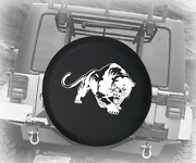 Spare Tire Cover Panther Stalking Prey Auto Accessories