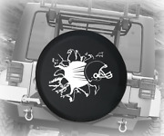 Spare Tire Cover Football Helmet Ripping Through Auto Accessories