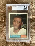 Willie Mays 1961 Topps 150 Bvg 7.5 Nm+ 0.5 Away Fr 8 =ps8sold1500 Sf Giants