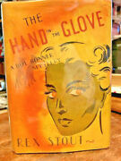 Hand In Glove By Rex Stout 1st In Dj First Dol Bonner Mystery