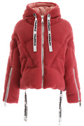 New Khrisjoy Faux Shearling Khris Puffer Jacket Afpw0001pile Antique Pink Authen