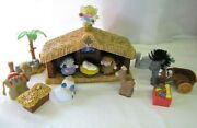Fisher Price Little People Touch And Feel Christmas Nativity Sounds Lights Stable