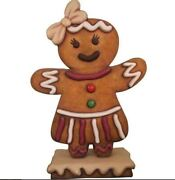 Gingerbread Girl Cookie 1 Christmas Display Prop Decor Statue