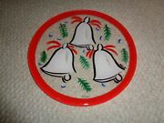 Kosta Boda Chirstmas Plate Bells Large Hand Painted Retired Signed Various Color