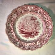 Vintage Cm Gothic Ruins 10 Inch Plate