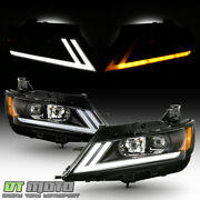 2014-2019 Chevy Impala Led Drl Switchback Black Projector Headlights Headlamps