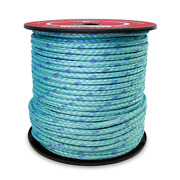 Cwc 12-strand Blue Steel Rope - 5/8 X 600and039 Teal W/dark Blue Tracer