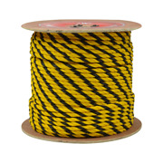 Cwc 3-strand Polypropylene Rope - 5/8 X 600and039 Yellow And Black