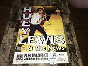 Huey Lewis Rare Signed German Concert Show Gig Poster Poster Bas + Free Shipping