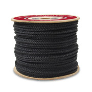 Cwc 3-strand Polypropylene Rope - 7/8 X 600and039 Black