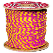 Cwc 3-strand Polypropylene Rope - 1/4 X 600and039 Yellow And Magenta