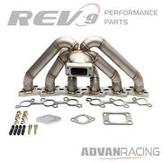 Rev9 Turbo Manifold Stainless Steel T304 11 Gauge Pipe For Rb20 Rb25 T3 Turbo