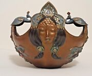 Bronze Icarus Peacock Bowl By Alexsander Danel Signed 1992 Limited Edition