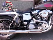 Chrome Thunderheader 2 Into 1 21 Full Exhaust System Pipe 1993-1998 Harley Dyna
