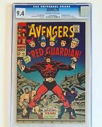 1967 Avengers 43 Cgc 9.4 1st Appearance Of The Red Guardian - Black Widow Movie