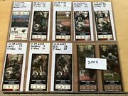 Collectors Lot / Collection Of Tennessee Titans Nfl Tickets And Ticket Stubs Fsbo